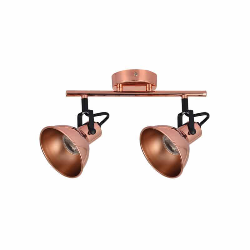 Regleta 2 focos color cobre estilo rustico